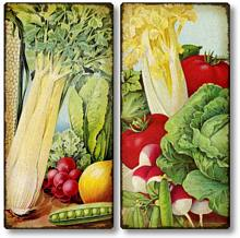 Item 3200 Garden Vegetables Plaques Set of 2