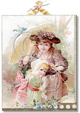Item 325072 Victorian Girls w Parasol Plaque