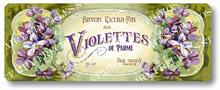 Item 34 Victorian Violettes French Soap Label Plaque