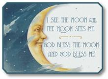 Item 42107 Man in the Moon Nursery Rhyme Plaque