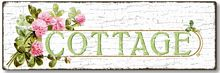 Item 435 Shabby Chic Cottage Sign
