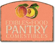 Item 4487 Peaches Pantry Plaque