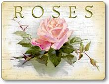 Item 46 Pink Roses Plaque