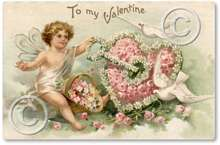 Item 49 Victorian Valentine Fairy Plaque