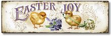 Item 62 Easter Joy Chicks with Flowers Sign