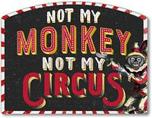 Item 6477 Monkey Circus Plaque