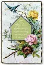 Item 68 Graceful Victorian Quotation Plaque