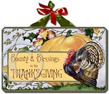 Item 8192 Turkey and Pumpkin Thanksgiving Plaque