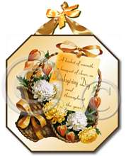 Item 8271 Thanksgiving Basket Plaque