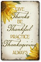Item 8355 Vintage Style Thanksgiving Plaque