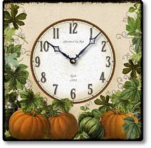 Item C8725 Square Pumpkin Clock