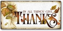 Item 8862 Vintage Style Thanksgiving Plaque