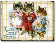 Item 90055 Vintage Style Three Kittens Plaque