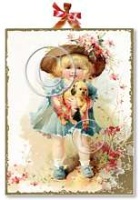 Item 922107 Little Girl with Puppy Plaque