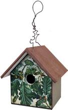 Item BB154 EarlyBird Bungalow Oak Leaves Acorn Design Rustic Bird House