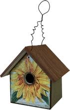 Item BB156 EarlyBird Bungalow Sunflower Design Rustic Bird House
