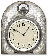 Item C1010 Vintage Style Tabletop Pocketwatch Clock