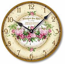 Item C1100 Garland of Pink Roses Clock