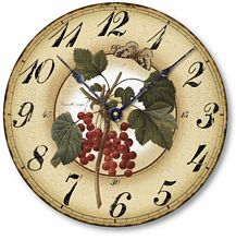 Item C1122 Red Currant Berries Clock