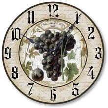 Item C1230 Wine Grapes Clock