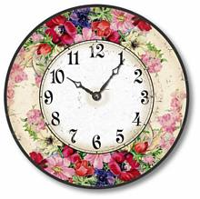 Item C1605 Vintage Style English Floral Clock