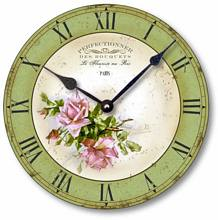 Item C2016 French Pink Rose Clock