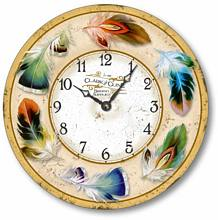 Item C2017 Vintage Style Bird Feather Clock