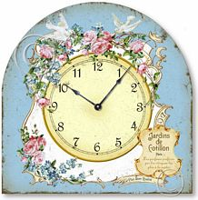 Item C2023 Vintage French Style Boudoir Tabletop Clock