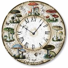 Item C2107 Vintage Style French Mushrooms Clock