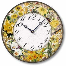 Item C2126 Vintage Style 12 Inch Nature's Golden Gems Clock