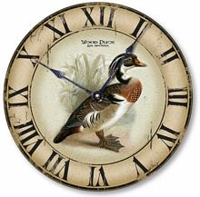 Item C2301 Vintage Style Wood Duck Clock