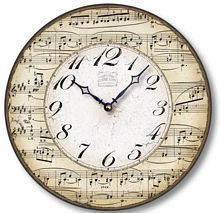 Item C2302 Music Notes Clock