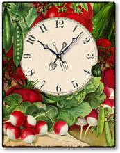 Item C4137 Vintage Style Vegetable Kitchen Clock