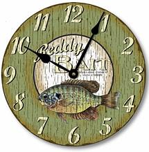 Item C5001 Vintage Retro Style Rustic Fish Clock
