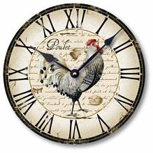 Item C5006 Vintage Style Country French Chicken Clock