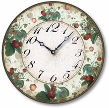 Item C6006 Vintage Style 12 Inch Strawberry Clock