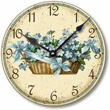Item C6015 Victorian Style Forget Me Nots Clock