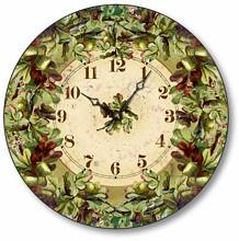 Item C6023 Oak Leaves and Acorns Clock