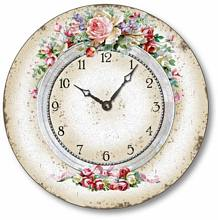 Item C6026 Classical Olde World Floral Clock