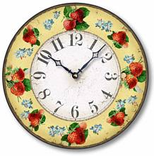 Item C6036 Vintage Style Strawberry Clock