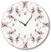 Item C6039 Shabby Chic Sweetpeas Clock