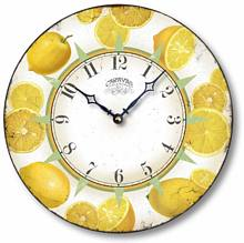 Item C6601 Refreshing Yellow Lemons Clock
