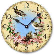 Item C7001 Birds and Cherry Blossoms Clock