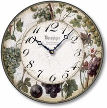 Item C8203 Vintage Style 12 Inch Wine Grapes Clock