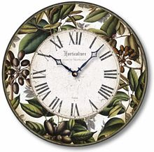 Item C8204 Leaves and Berries Clock