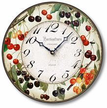 Item C8205 Vintage Style 12 Inch Cherries Clock