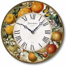 Item C8206 Vintage Style 12 Inch Citrus Fruits Clock