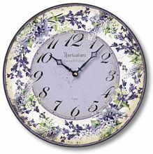 Item C8209 Lilacs and Lavender Clock