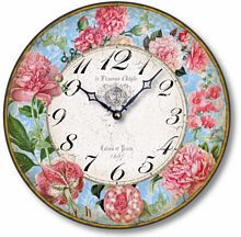Item C8211 Antique Style 12 Inch French Floral Clock