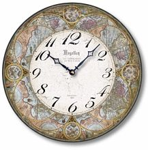Item C8220 Antique Style 12 Inch Olde World Map Clock